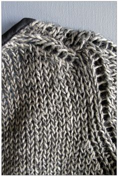 heavy linen handknit jacket