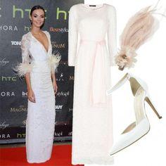 Ślubne stylizacje z sieciówek: Sukienka - Mango 569zł, Buty - River Island - 249zł, Ozdoba do włosów - Accessorize - 79zł #slub #wesele #stylizacje #sukienki #dress #polkipl