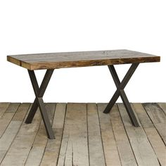 Industrial Table | Reclaimed Wood furniture | custom made kitchen | X Frame Reclaimed Wood Table | Urbanwoodgoods.com
