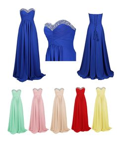 Dresstells Long Prom Dress Sweetheart Bridesmaid Dress with Beadings