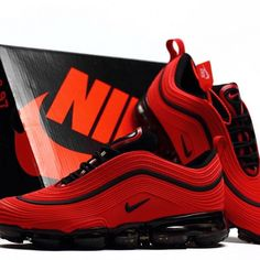 New (never used), Nike Air Max 97 Vapormax Red Black Mens ShoesItem Code: Stocks: Make an offer! Best Sneakers, Black Sneakers, Air Max Sneakers, Sneakers Fashion, Sneakers Nike, Sneakers Women, Fashion Shoes, Women's Shoes, Me Too Shoes