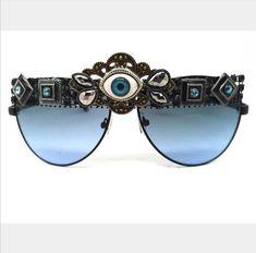 #mens #sunglasses #thirdeye #accessories #trends #style #mensfashion  #blueSunglasses #funky #burningman #aviator #sunglassesstyles #unusual #handmade #diy
