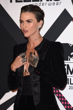 MILAN, ITALY - OCTOBER 25: Ruby Rose attends the MTV EMA's 2015 at Mediolanum Forum on October 25, 2015 in Milan, Italy. (Photo by Venturelli/WireImage)