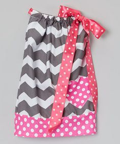 Another great find on #zulily! Pink & Gray Zigzag Pillowcase Dress - Infant, Toddler & Girls by Pixiedust Pretties #zulilyfinds