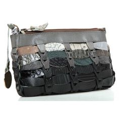 Octopus Elfa Clutch Leather grey 23 cm - J221GR - Designer Bags Shop - wardow.com