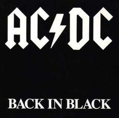 AC/DC Back in Black - Excellent design and typography heralded one of the best hard rock albums of all times. Yes, I said it, album.