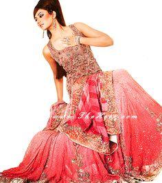 BW224 Melon & Tea pink Lehenga Bridal Lehenga Designers in Pakistan Bridal Lenga Lahnga Designers Bridal Wear