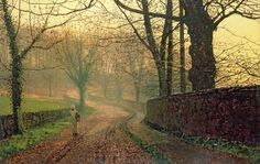 "John Atkinson Grimshaw, ""Stapleton Park, near Pontefract."" (c.1878)....beautiful light"