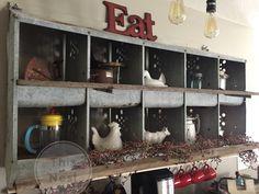 Favorite Things- April 2017 ~ This Nest Living - Chicken layer boxes, nest, Antique decor - Antique Farmhouse, Country Farmhouse Decor, Farmhouse Design, Farmhouse Style, Farmhouse Ideas, Modern Farmhouse, Antique Decor, Vintage Decor, Rustic Decor