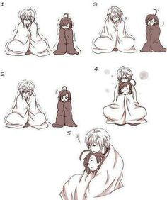 Cute anime couple - She has a great idea