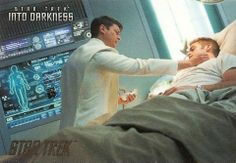 Star Trek: into darkness I love how they all pitched in to save the man who saved their lives so many times