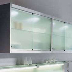 Sliding Gl Cabinet Door Except Only Two Panelake It Br Kitchen
