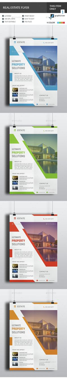 Real Estate Flyer Template PSD. Download here: http://graphicriver.net/item/real-estate-flyer/14978832?ref=ksioks