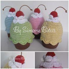 <3 Quarteto Cupcake Cute Colors. Indo morar em Campinas. Quer ver mais? Vem aqui: www.recantodasborboletas-simoninha.blogspot.com.br