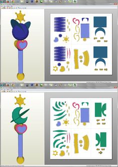 SailorMoon - Uranus and Neptune LipRods Papercraft by aiko-chan14 on deviantART