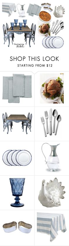 """""""Thanksgiving Table"""" by romaosorno ❤ liked on Polyvore featuring interior, interiors, interior design, ev, home decor, interior decorating, OKA, Mikasa, Match ve Nordal"""