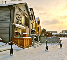 My Town, Helsinki, Street View, City, Building, Places, Winter, Nature, Travel