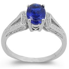Blue Oval Simulated Sapphire & White Cubic Zirconia Ring Size 7 by Oxford Diamond Co - See more at: http://blackdiamondgemstone.com/colored-diamonds/jewelry/rings/statement/blue-oval-simulated-sapphire-white-cubic-zirconia-ring-size-7-com/#sthash.FUfiwxc7.dpuf