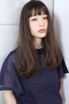 Medium Long Hair, Long Hair With Bangs, Medium Hair Cuts, Medium Hair Styles, Natural Hair Styles, Short Hair Styles, Permed Hairstyles, Hairstyles With Bangs, Pretty Hairstyles