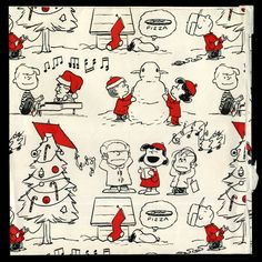 Snoopy and the Peanuts Christmas Wrapping Paper