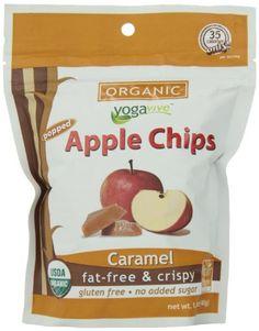 Yogavive Organic Popped Apple Chips, Caramel, 1.41 Ounce - http://goodvibeorganics.com/yogavive-organic-popped-apple-chips-caramel-1-41-ounce/