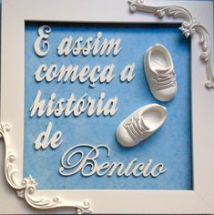 QUADRO MATERNIDADE - E assim... Benício Baby Kit, Baby Decor, Shadow Box, Kids And Parenting, New Baby Products, Boy Or Girl, Lily, Baby Shower, Frame