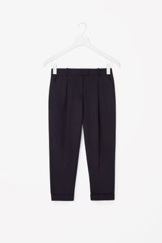 COS image 2 of Tapered trousers in Navy