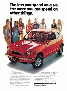 1972 Honda Ad for the Z600 coupe