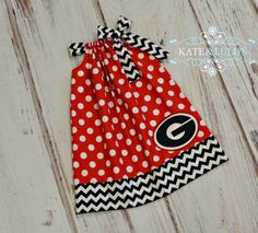 Georgia Game Day Dress  Georgia Bulldogs football by KateandLulu   I think Cora MUST have this for football season!