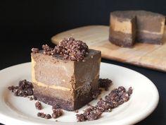Raw Chocolate Peanut Butter Tart [Gluten-Free, Raw, Dairy-Free] #raw #vegan #recipe