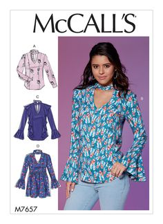 M7657 | McCall's Patterns | Sewing Patterns of course the very wied open cf will def have to be closed up funn is the girl at the checkout counter agreed on that to ve both love this one I see.. shes getting it too ditto the open front