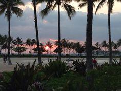 Sunset. Hilton Hawaiian village.  Oahu