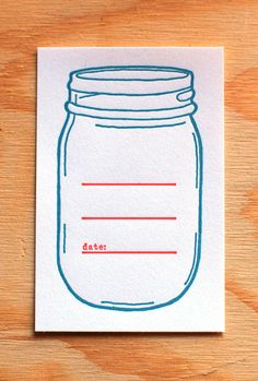 Mason Jar Canning Labels