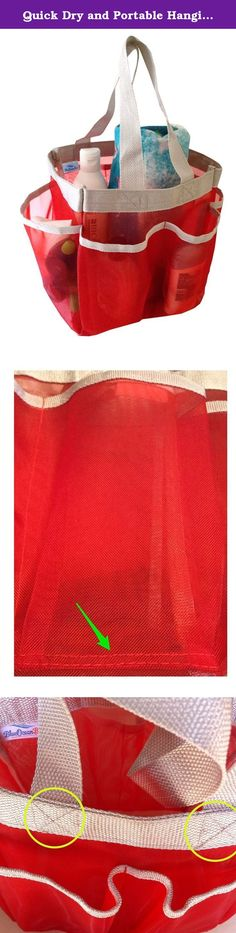 Quick Dry and Portable Hanging Mesh Shower Caddy - Bath Bag and Storage Organizer for Bathroom Accessories - Shower Tote for Gym Camp Travel and College Dorm Room (Red). Don't you hate when you get into the shower in your dorm, at the gym or at camp and realize you forgot to bring something along? Now, there is a simple way to make sure that you always have all of your bathroom accessories right within easy reach when you're in the shower in any bathroom! Our mesh shower caddy is the…