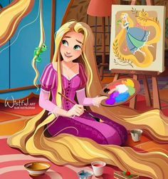 Disney Rapunzel, Princesses Disney Punk, Film Disney, Disney Artwork, Disney Princess Art, Disney Princess Pictures, Disney Fan Art, Disney Drawings, Disney Magic