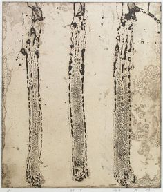 Takahiko Hayashi ~ Line 3, 1982 (etching, chine collé)