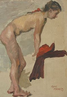 "Isaac Israels, Dutch, 1865-1934, ""Leaning Nude wit - by William Bunch"