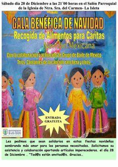 Gala Benéfica de Navidad en el Salón Parroquial del Carmen en el Barrio de La Isleta en Las Palmas de Gran Canaria @Conoce La Isleta
