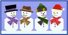 Snowman Paper Pieced Quilt Block by Piece By Number #quilting #quiltpatterns