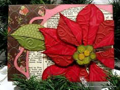 Gorgeous Poinsettia card from Creationsbypatti