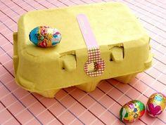 Cajas de huevo de colores para cupcakes - Manualidades