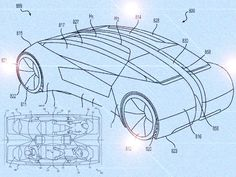 Schematic of Zoox's proposed bidirectional, all-electric, self-driving car