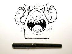 Pen Brush Monster by Jetpacks and Rollerskates