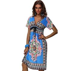 Yoyorule Sexy Women Summer Floral Loose Sleeveless Beach Boho Maxi Sundress >>> Want to know more, click on the image.