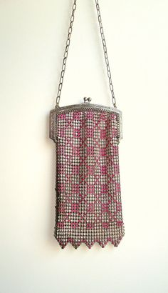 1920's Flapper Mesh and Metal Whiting & Davis Purse by ELanesAttic, $250.00
