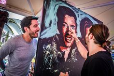 Jared Emerson is one talented artist! He created several paintings on the cruise by using just his fingers! What do you think, does it look like me? Jonathan Scott, Drew Scott, 35th Wedding Anniversary, Scott Brothers, Property Brothers, Best Day Ever, Man Alive, Emerson, Becca