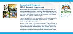 30% de descuento en la Escuela Infantil Montessori con la Tarjeta Confianza. http://www.hospitalmedimar.com/confianza/