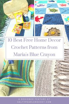 You will love this collection of the best free home decor crochet patterns from Maria's Blue Crayon! Maria has so many great crochet home decor ideas, including my personal favorite, her crochet granny square afghan patterns!