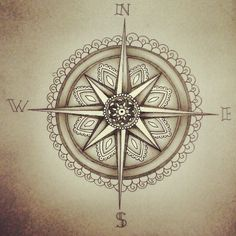 Shine a light and guide me home - By MS Just a little compass/mandala because I was feeling pretty nautical and lost for a little while. It...