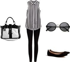 """""""Black and white"""" by mavideangelis ❤ liked on Polyvore"""